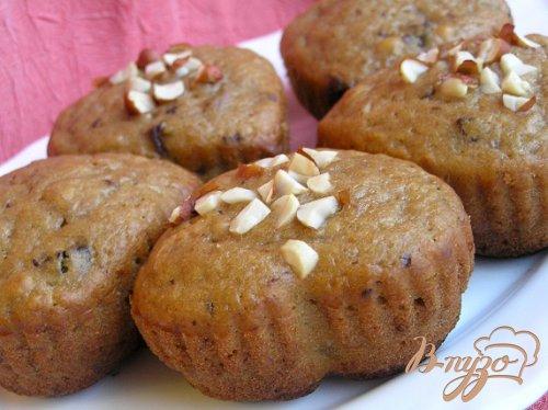 Банановые кексы с черносливом и кусочками шоколада