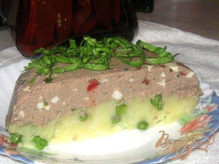 Запеканка из печени с картофельным пюре