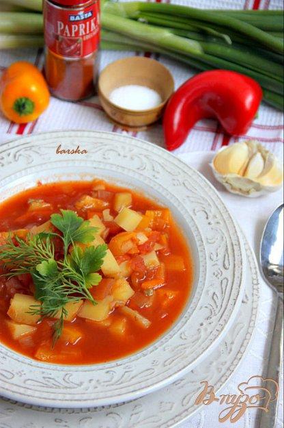 фото рецепта: Постный суп-гуляш