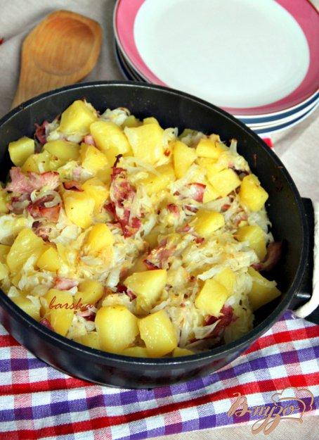 Рецепт Капустно-картофельная сковорода с ветчиной