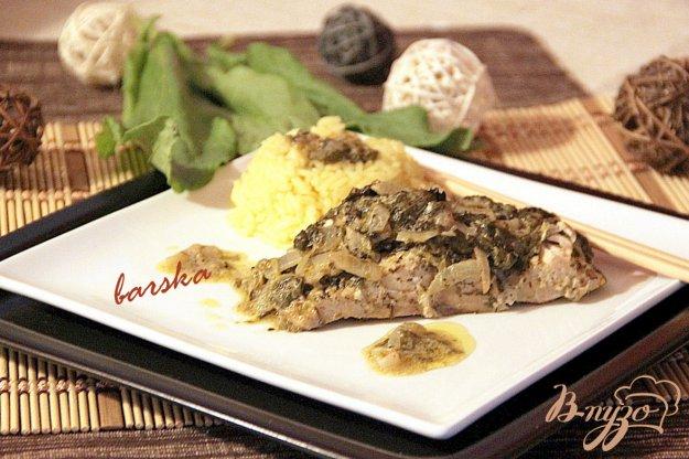 фото рецепта: Рыбка в щавелевом соусе