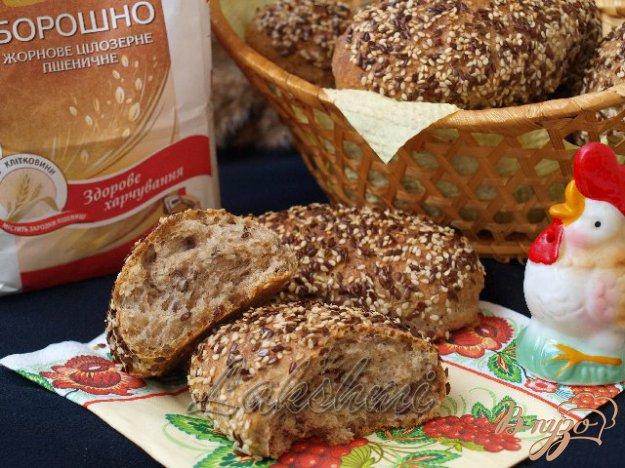 Рецепт Булочки с кунжутом и семенами льна из цельнозерновой муки