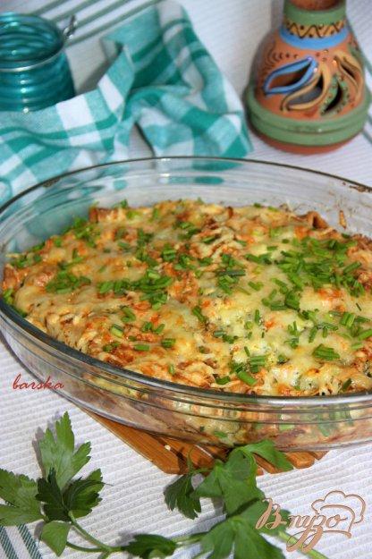 Рецепт Запечeные блинчики с творожно-овощной начинкой