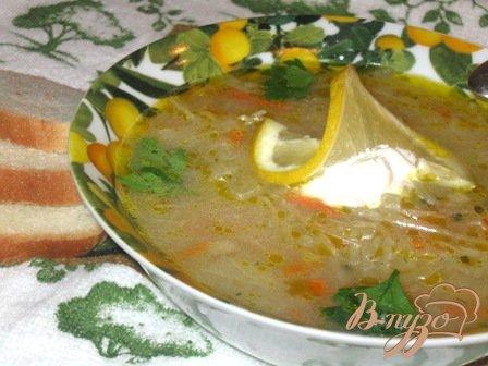 фото рецепта: Луковый суп с капустой