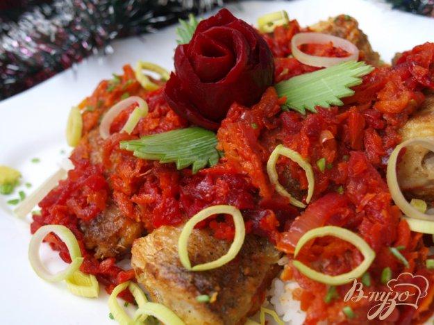 Рецепт Вкусная рыбка под маринадом бордо.