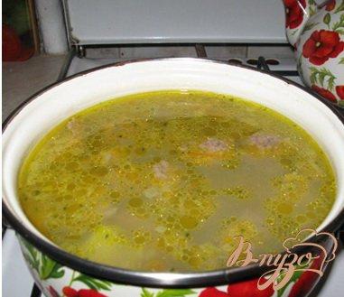 Суп с клецками из печени