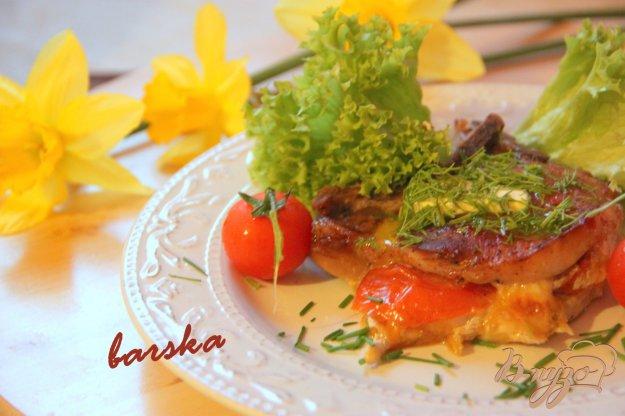 фото рецепта: Котлета на косточке с итальянским кармашком