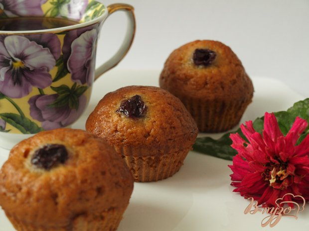 Рецепт Имбирные кексы с фруктами
