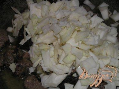 Баранина тушеная с капустой