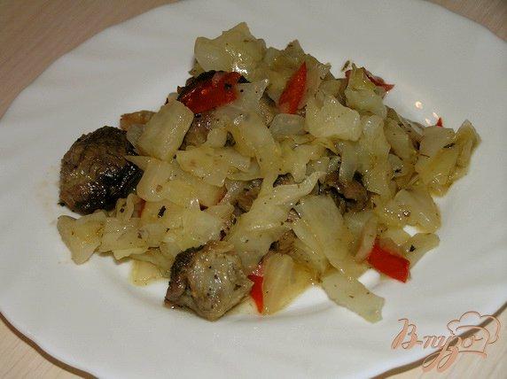 Рецепт Баранина тушеная с капустой
