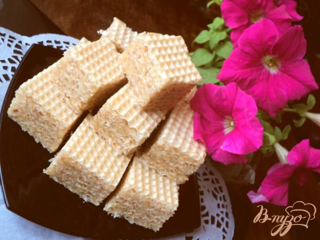 Рецепт Вафельные пирожные «Соты»
