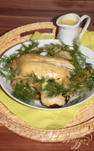фото рецепта: Ленивая курица со сливочно-лимонным соусом