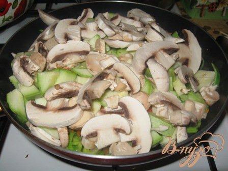 "Овощное рагу  ""Кабачки с грибами"""
