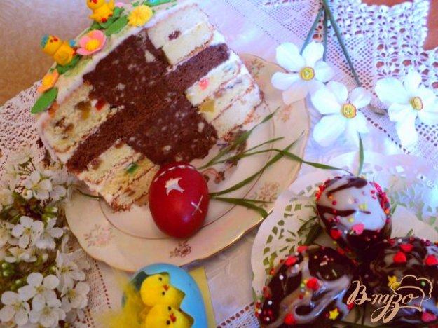 Рецепт Пасхальный торт и бонус – пирожные.