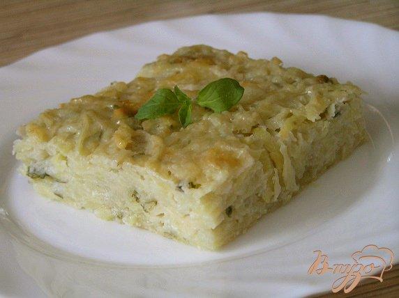 фото рецепта: Картофельная запеканка с сыром и зеленью