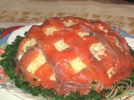 Рецепт Салат с соленой семгой