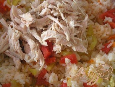 Быстрый плов с курицей и овощами