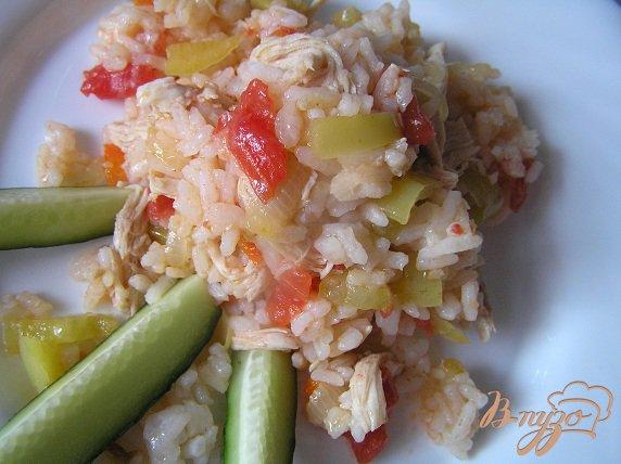 Рецепт Быстрый плов с курицей и овощами