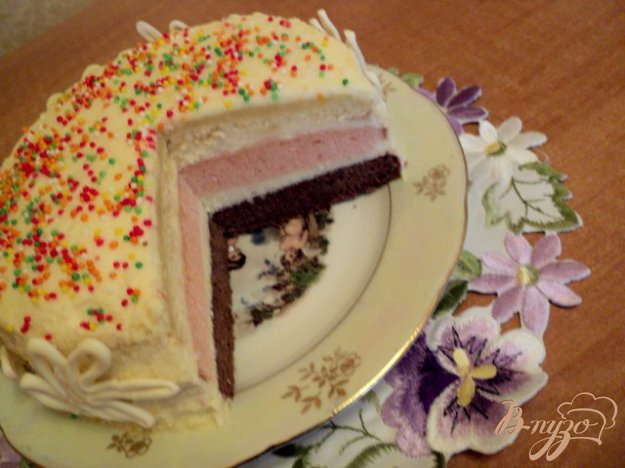 Торт «Веселка». Як приготувати з фото