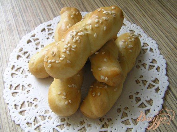Рецепт Апельсиновое печенье с кунжутом