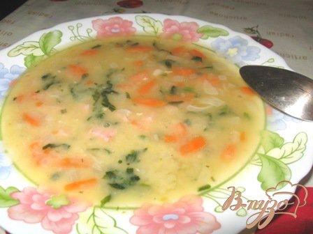фото рецепта: Гороховый суп со шпинатом и бужениной