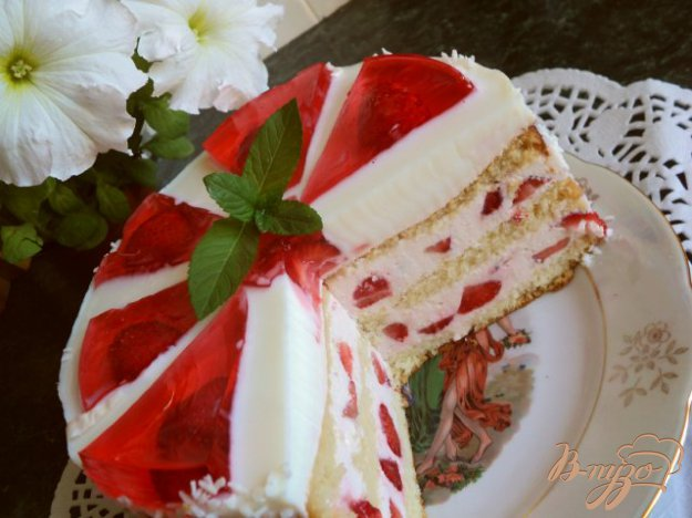 фото рецепта: Торт «Красное и белое»