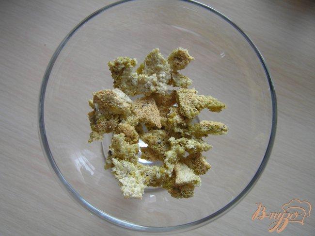 Фото приготовление рецепта: Ванильный десерт с бисквитом шаг №5