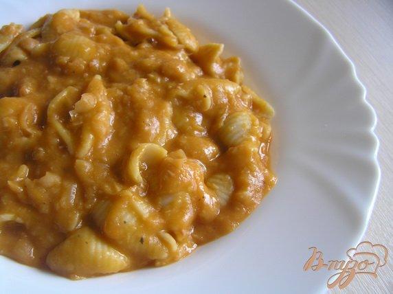 фото рецепта: Суп-пюре из белой фасоли с пастой