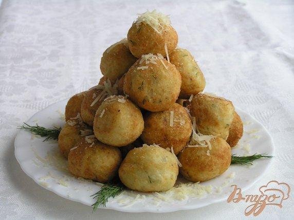 Рецепт Творожные шарики с сыром и зеленью