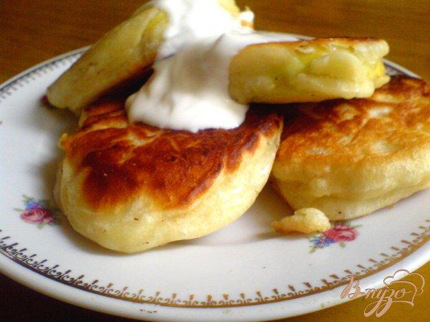 Рецепт Яблочные дрожжевые оладьи