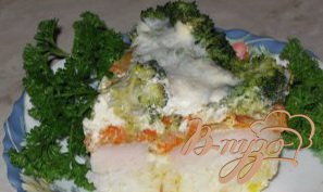 Запеканка из рыбы с брокколи
