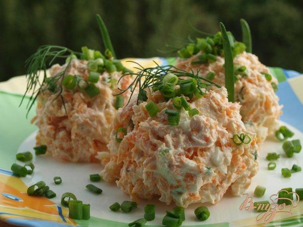 Рецепт Салат из творога с морковью