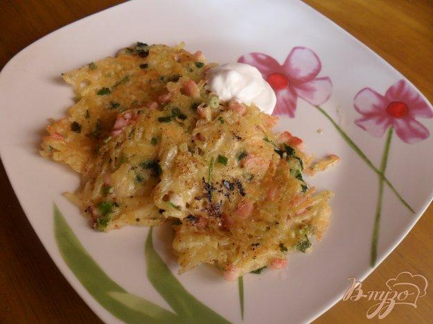 Рецепт Картофельные оладьи с ветчиной и сыром