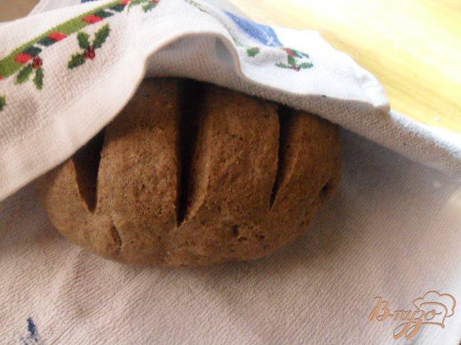 Фото приготовление рецепта: Пшеничный хлеб с льняной мукой шаг №5