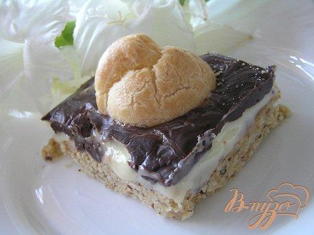 Рецепт Ореховые пирожные с профитролями