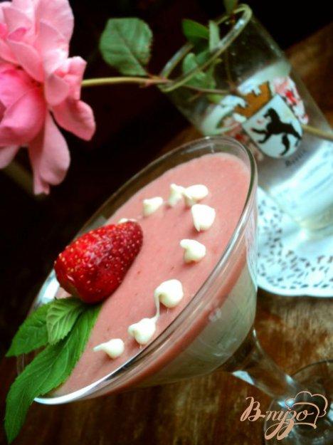 Сливочно-ягодное суфле.