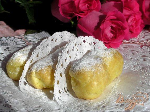 Фото приготовление рецепта: Эклеры с заварным лимонным кремом шаг №10