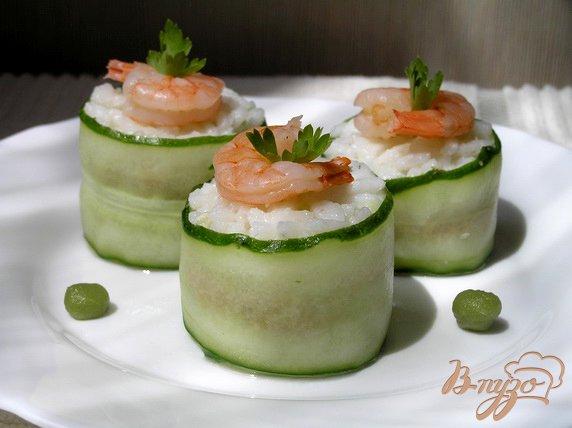 Рецепт Роллы с тунцом и креветками