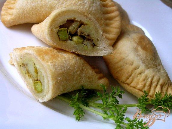 Рецепт Самоса с картофелем и зеленым горошком