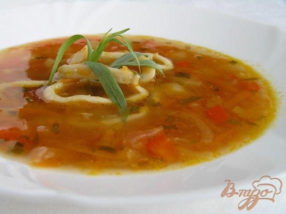 Рецепт Суп с кальмарами и эстрагоном