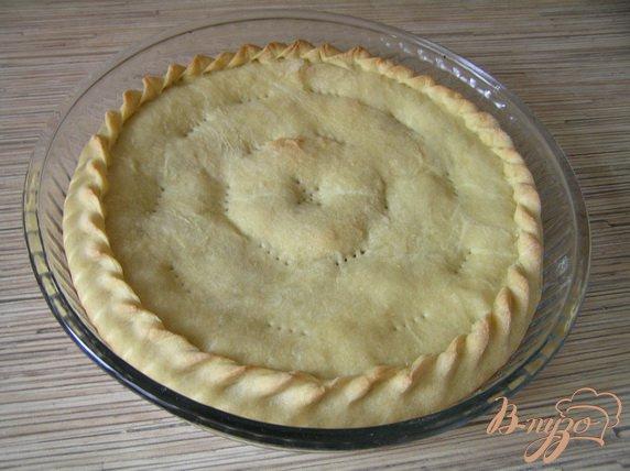 Фото приготовление рецепта: Грушево-яблочный пирог с корицей шаг №8