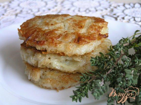 Рецепт Котлеты из картофеля и овсянки с базиликом