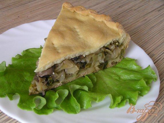 Рецепт Пирог c капустой, грибами и зеленым луком