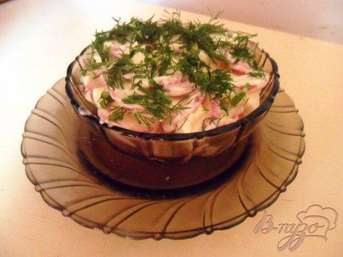 Салат из редиса со сметаной
