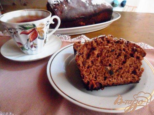 Шоколадный кекс на сметане с цукатами