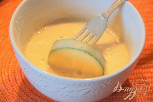 Кабачки цуккини в пивном кляре с брынзовым соусом