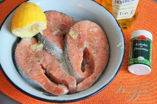 Стейки из красной рыбы в аэрогриле