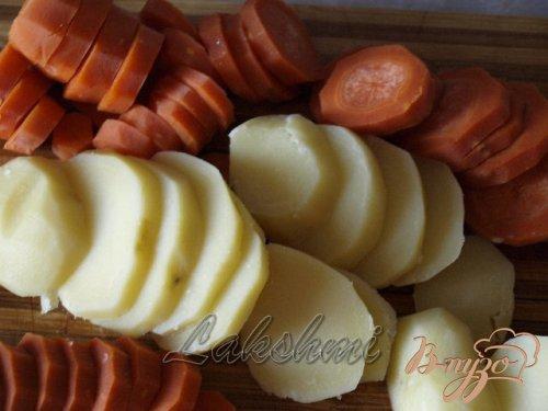 Морковный гратин со свининой