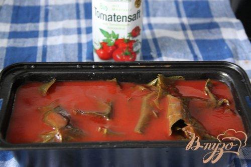 """Террин в виноградных листьях и в томатном соке или """"Ленивая"""" долма"""
