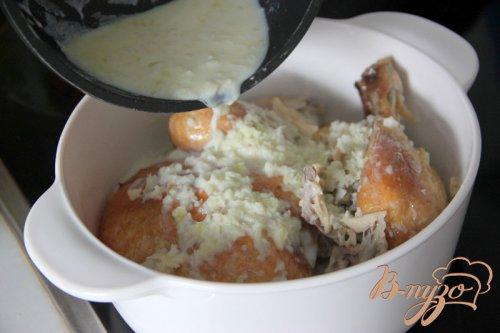 Шкмерули. Курица в чесночно-молочном соусе по-грузински.